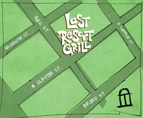 Last Resort Grill Map